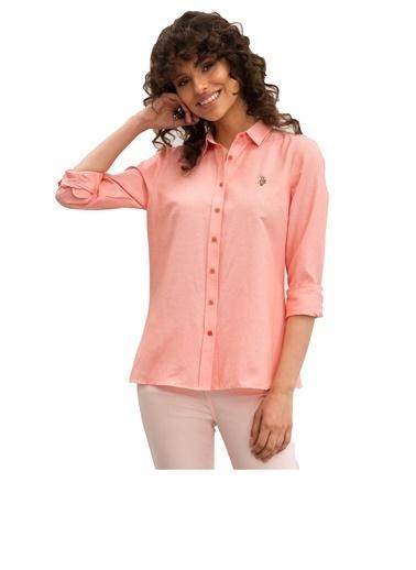 U.S. Polo Assn. U.s. Polo Assn. Kadın Gömlek 990708 990708006 Sarı
